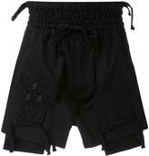 Kokon To Zai embroidered shorts - men - Cotton - S