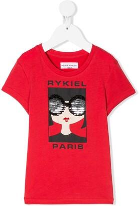 Sonia Rykiel Enfant logo graphic print T-shirt
