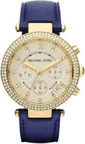 Michael Kors MK2280 Parker gold-plated and leather chronograph watch