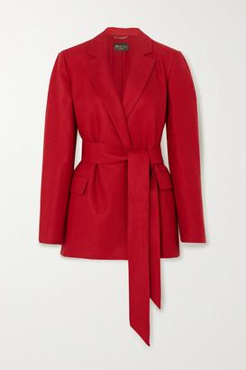 Loro Piana Belted Linen Blazer - Red