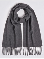 M&S Collection Brushed Woven Scarf