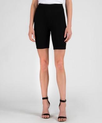Atm Modal Rib Bike Shorts - Black