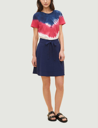 Claudie Pierlot Seya tied-hem crepe mini skirt