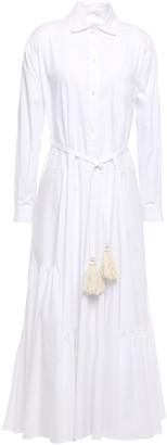 Tome Belted Cotton-poplin Midi Shirt Dress