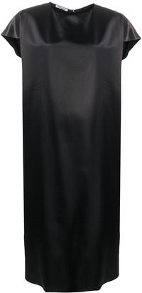 Parlor Heart Cutout Satin Dress