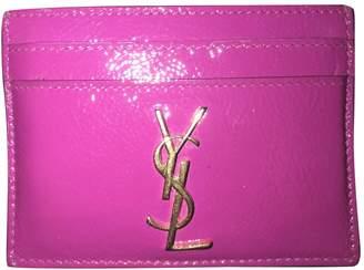 Saint Laurent Pink Patent leather Wallets