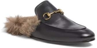 Gucci Princetown Genuine Shearling Slipper