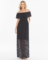 Soma Intimates Off the Shoulder Burnout Maxi Dress LG