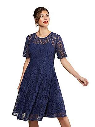 Yumi Fit And Flare Lace Dress With Lace