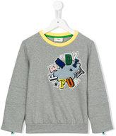 Fendi embroidered logo sweastshirt - kids - Cotton/Polyester/Spandex/Elastane - 2 yrs