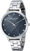 Kenneth Cole New York Women's 'Classic' Quartz Stainless Steel Dress Watch, Color:Silver-Toned (Model: KC15056008)