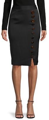 Avantlook Button-Accent Pencil Skirt