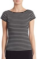Akris Punto Striped Cap Sleeve Tee