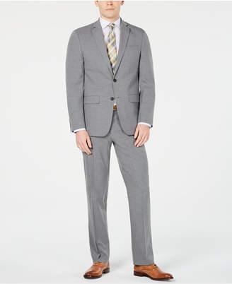 Van Heusen Men Slim-Fit Flex Stretch Wrinkle-Resistant Gray Sharkskin Suit