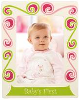 "Merry Go Round Little Girl With A Curl ""Baby's First"" 5"" x 7"" Frame"