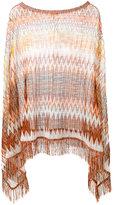 Missoni asymmetric draped poncho - women - Polyamide/Viscose - One Size