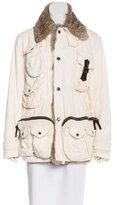 Dolce & Gabbana Fur-Trimmed Corduroy Coat