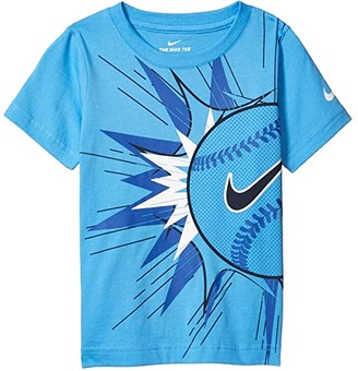 Nike Baseball Blast Logo Graphic Short Sleeve T-Shirt (Little Kids) (University Blue) Boy's T Shirt