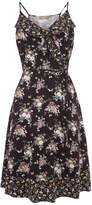Oasis LONG PATCHED DITSY DRESS