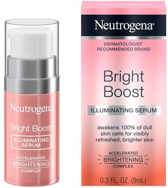 Neutrogena Bright Boost Illuminating Face Serum with Neoglucosamine & Turmeric Extract for Even Skin Tone, Resurfacing Serum for Face to Reduce Dark Spots & Hyperpigmentation, 0.3 fl. oz