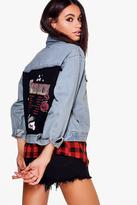 boohoo Janie World Tour Boyfriend Denim Jacket