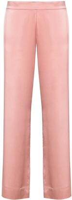 ASCENO Silk Straight-Leg Pajama Bottoms