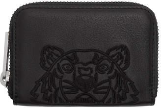 Kenzo Black Kampus Tiger Zip Wallet