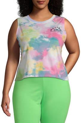 Hybrid Tees Juniors Plus Womens Crew Neck Sleeveless Tank Top
