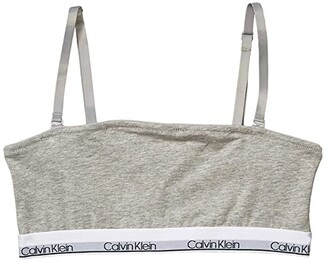 Calvin Klein Kids Cotton Bandeau (Little Kids/Big Kids) (Heather Grey) Girl's Bra