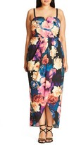 City Chic Plus Size Women's Secret Garden Maxi Dress