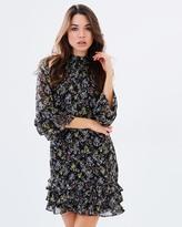 Forcast Miller Floral Frilled Dress