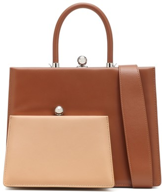 Ratio et Motus Twin Frame leather tote