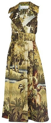 Oscar de la Renta Sleeveless Trench Dress