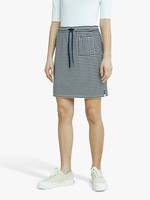 People Tree Leia Stripe Mini Skirt, Navy/White