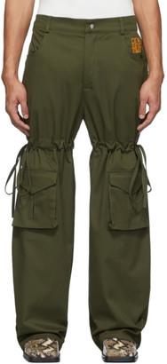 Phlemuns Khaki Logo Cargo Pants