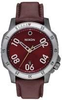 Nixon Ranger Leather A508-2073 Deep Burgundy Leather Analog Quartz Men's Watch
