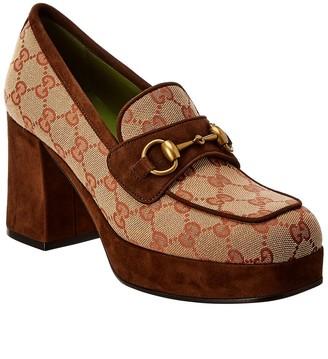 Gucci Suede-Trim Platform Loafer