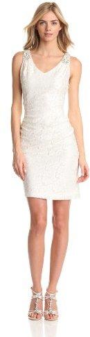 Eliza J Women's Jacquard V-Neck Bridal Dress