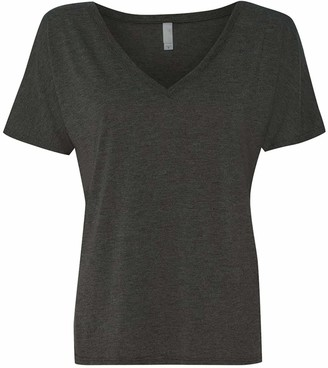 Clementine Apparel Women's Ladies Favorite Classic Flowy Simple V-Neck T-Shirt
