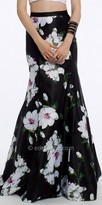 Camille La Vie Satin Floral Trumpet Skirt