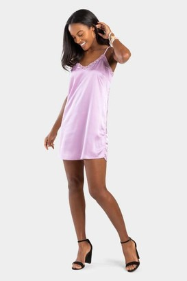 francesca's Belora Lace Slip Dress - Lavender