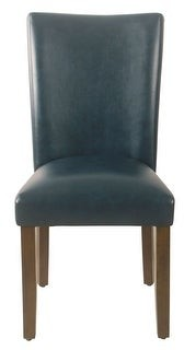 HomePop Classic Faux Leather Parsons Dining Chair - Set of 2