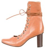 Marques Almeida Marques'Almeida Leather Lace-Up Booties
