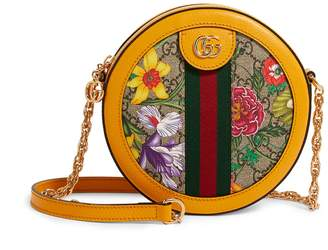 Gucci Mini GG Flora Ophidia Round Shoulder Bag