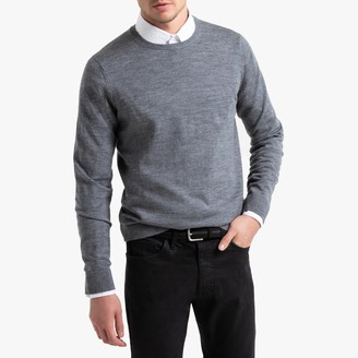 La Redoute Collections Merino Wool Jumper with Crew Neck