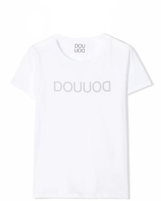 Douuod White Cotton T-shirt