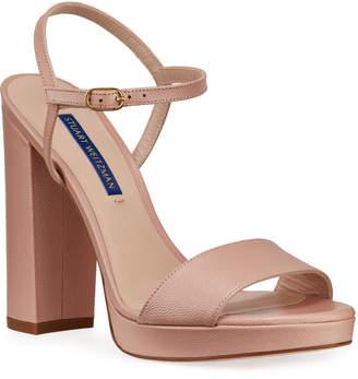 Stuart Weitzman Sunray Platform Ankle-Strap Sandals