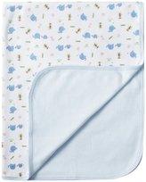 SpaSilk 2 Play Receiving Blankets - Boy Elephant Print, Blue, 0-48 Months
