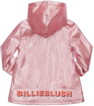 Billieblush Glittered Raincoat W/ Hood