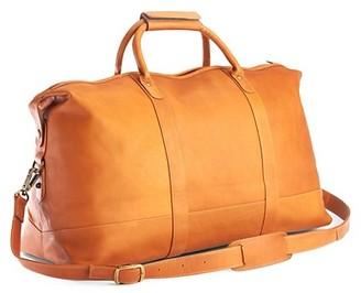 ROYCE New York New York Colombian Leather Luxury Weekender Duffel Bag